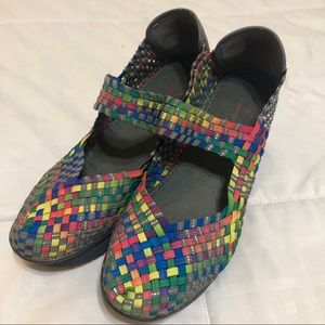Moving Sale // Johns Bay Rainbow Wedges Mary Janes